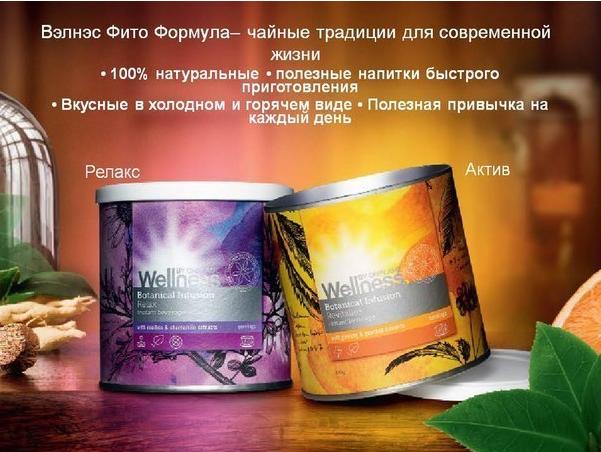 Чай Wellness от Орифлэйм - напитки здоровья