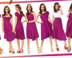 Платье трансформер: как носить правильно и одевать