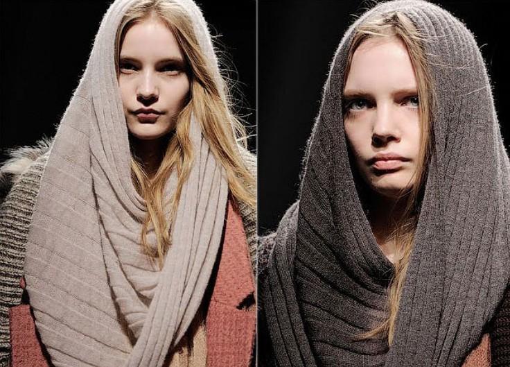 Варианты ношения шарфа трансформера