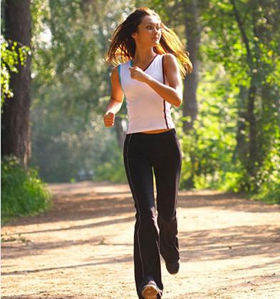 Пробежка способствует похудению