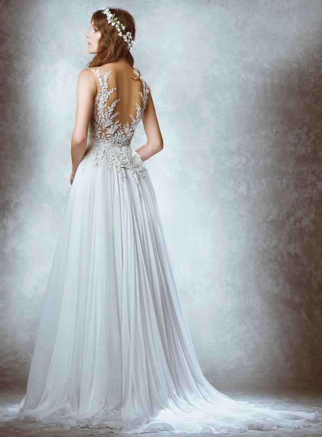 платья в пол - Прямые свадебные платья длиной в пол
