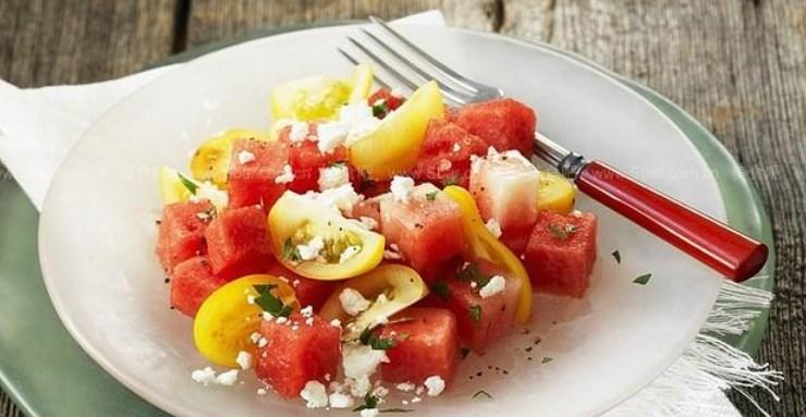 Salat iz arbuza i pomidorov - Секреты вкусного мяса барбекю