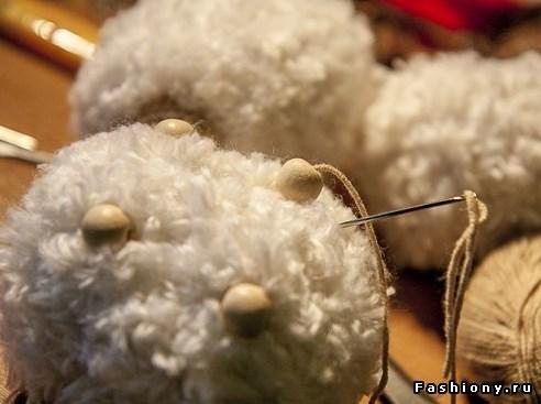 Ovechka10 - Как сделать новогоднюю овечку своими руками