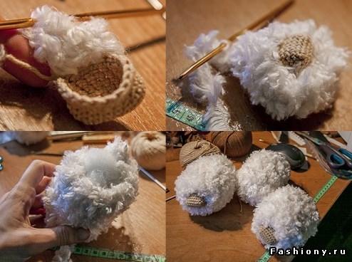 Ovechka3 - Как сделать новогоднюю овечку своими руками