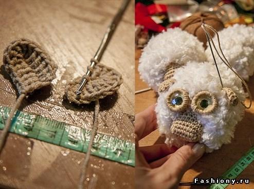 Ovechka7 - Как сделать новогоднюю овечку своими руками