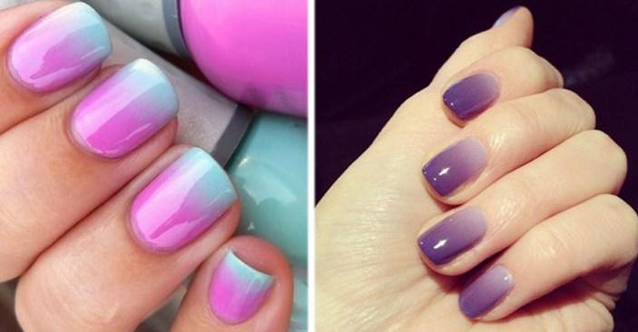 Ombre 2 - Как аккуратно накрасить ногти двумя цветами