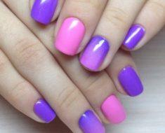 Как аккуратно накрасить ногти двумя цветами