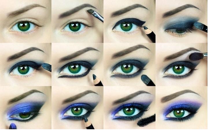Makiyaz dlya zelenih glaz - Макияж под синее платье для зеленых глаз