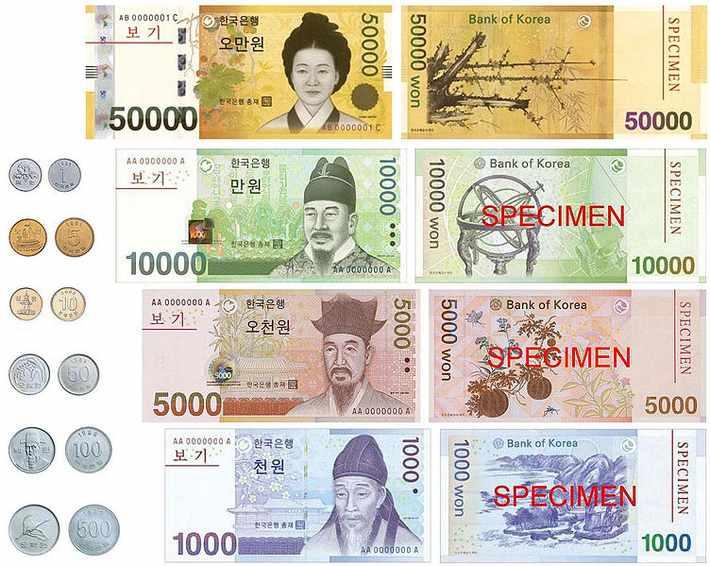 Как обменять деньги в Корее